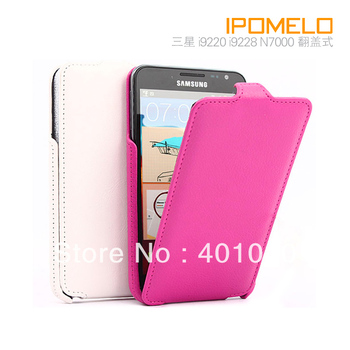 Leather cover case For samsung i9220 i9228 n7000 protective case fashion mobile phone case ed626 free air mail