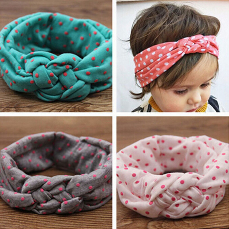 TWDVS Soft Jewely Girl Kids Cross Hairband Turban Knitted Knot Headband Headwear Hair Bands Hair Accessories KT010(China (Mainland))