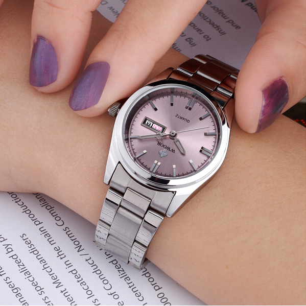 Top Luxury Brand Full Steel Waterproof Ladies Watches Fashion Auto Date Quartz Wrist Watch for Women