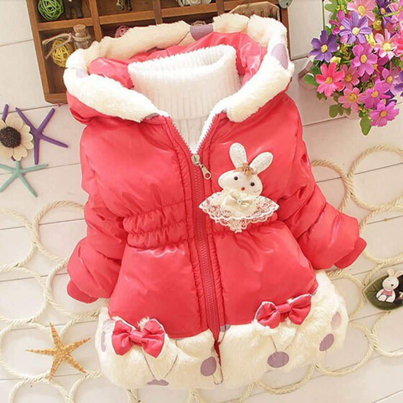 c7735c3d3 free shipping 2015 Winter baby girls Parkas Children s cute hoodie ...