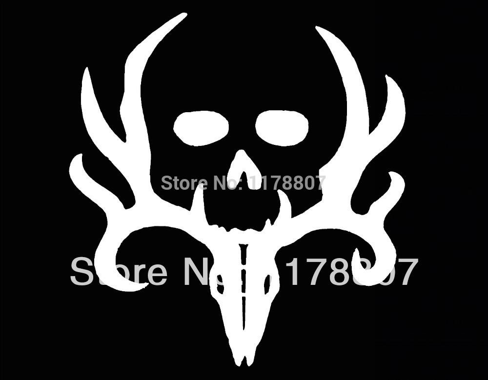 20 pcs/lot Bone Collector Deer Hunting Gun Car Sticker Truck SUV Bumper Auto Door Laptop Kayak Canoe Vinyl Decal 8 Colors(China (Mainland))