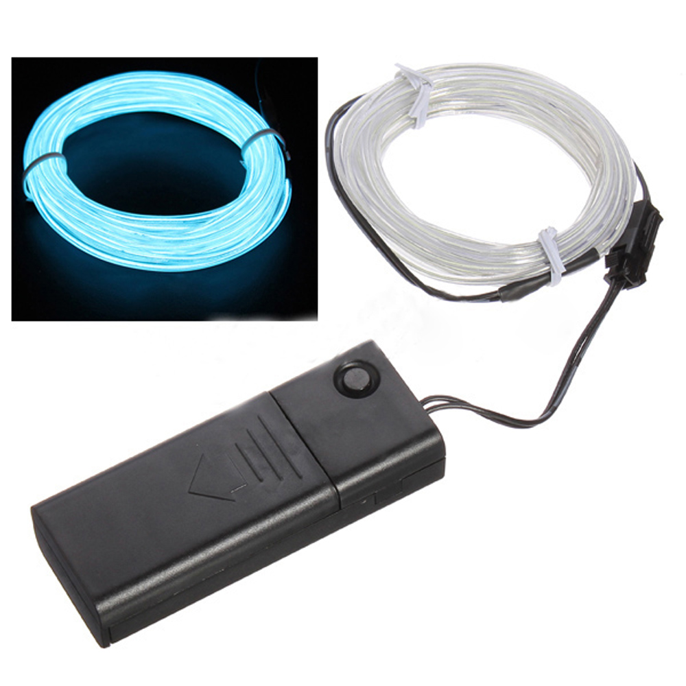 Light Green Flexible EL Wire Neon Light 1M Dance +Controller,Free Shipping(China (Mainland))