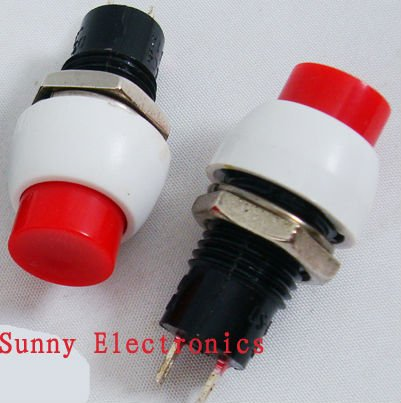 20PCS Latching Push Button Switch 2 Pins red OFF-ON AC 250V/1A<br><br>Aliexpress