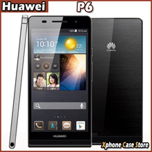 "Original Huawei Ascend P6S Hisilicon K3V2E Hi3620 Quad Core 1.6GHz 4.7"" 3G Android 4.2.2 Smart Phone RAM 2GB ROM 16GB WCDMA GSM"