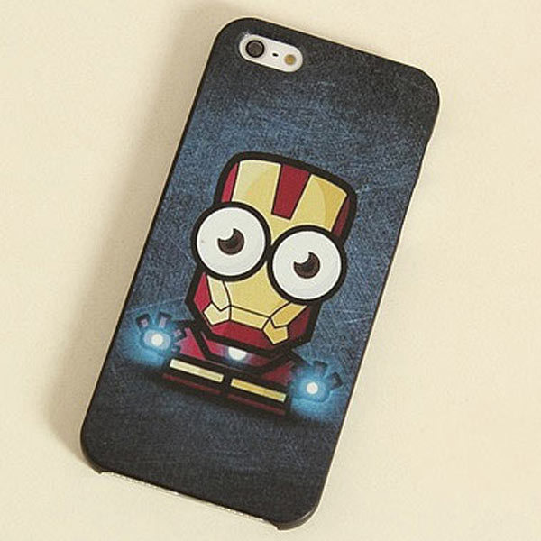 ,new cute Iron Man Design hard cover Case Apple iphone 4 4s 5g 5s cartoon lovely case - GLOBAL Mall TRADE(HK store CO., Ltd.)
