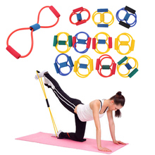 Hot Selling 1pcs Resistance 8 Type Expander Rope Workout Exercise Yoga Tube Sports Big Discount