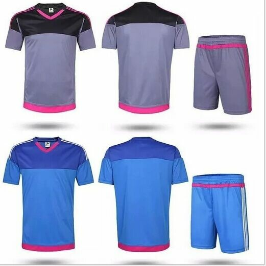Soccer uniform plate jersey male money training football tracksuits plate football jersey blank soccer uniform(China (Mainland))