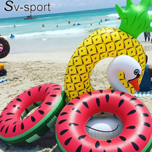 2016 1.2M Inflatablewatermelon Ride-On Pool Toy Float For Air Mattress Swimming Ring floating row inflatable adult water Toys(China (Mainland))