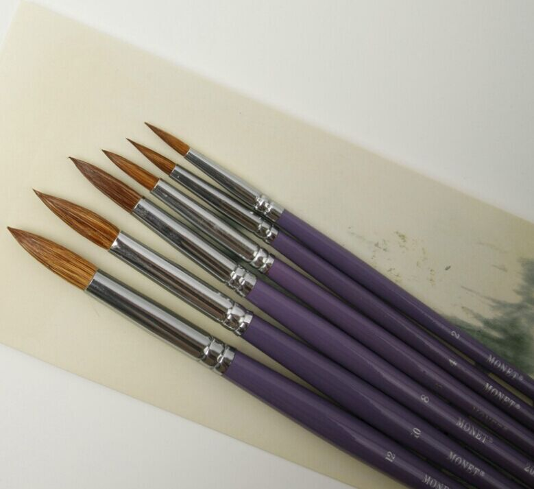 Professional Wooden Handle Watercolor Paint Brushes/Artist Painting Brush<br><br>Aliexpress