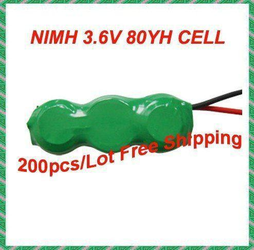 200packs /Lot, 80mAh 3.6V rechargeable button cell battery pack/NiMH battery pack(China (Mainland))