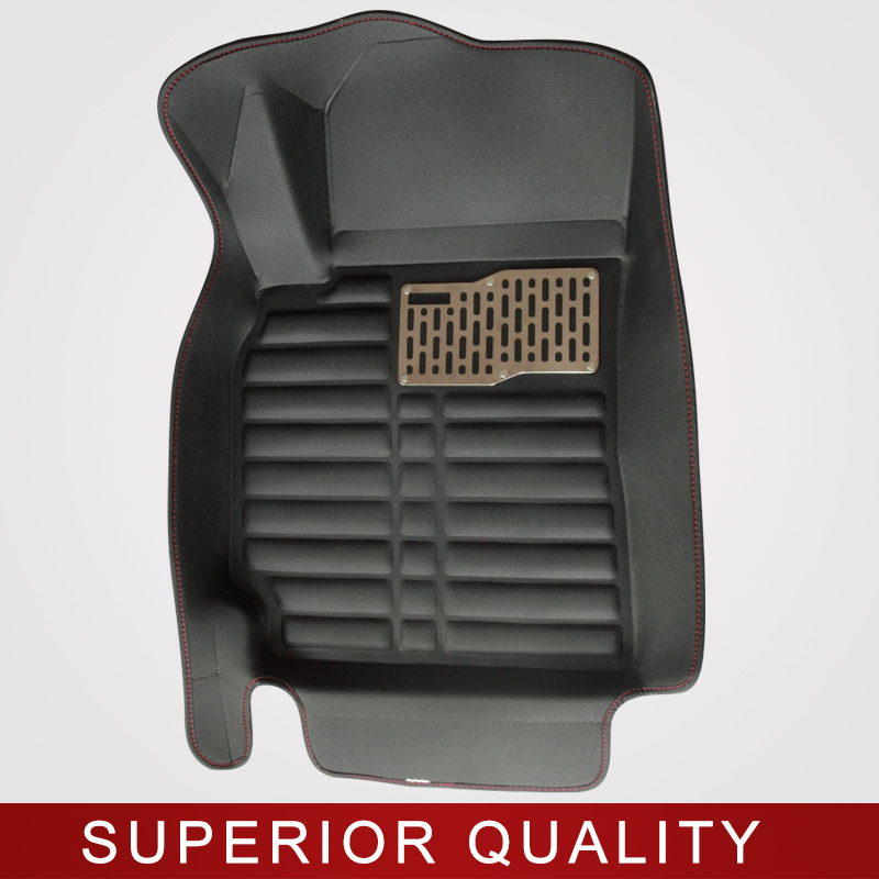Monolayers Indentation 3D waterproof floor mats for Honda Accord Civic CRV City HRV high quality car floor mat(China (Mainland))