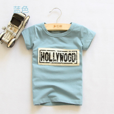 Baby boys clothes 2-8y summer 2016 short-sleeve T-shirt girls tops children's clothing cotton casual kids wear fashion(China (Mainland))