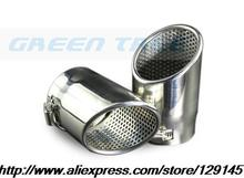 Buy High stainless steel exhaust pipe tail rear muffler tip pipes Audi Q5 2.0 T 2008 A4 B8 VW Tiguan 2009 for $32.03 in AliExpress store