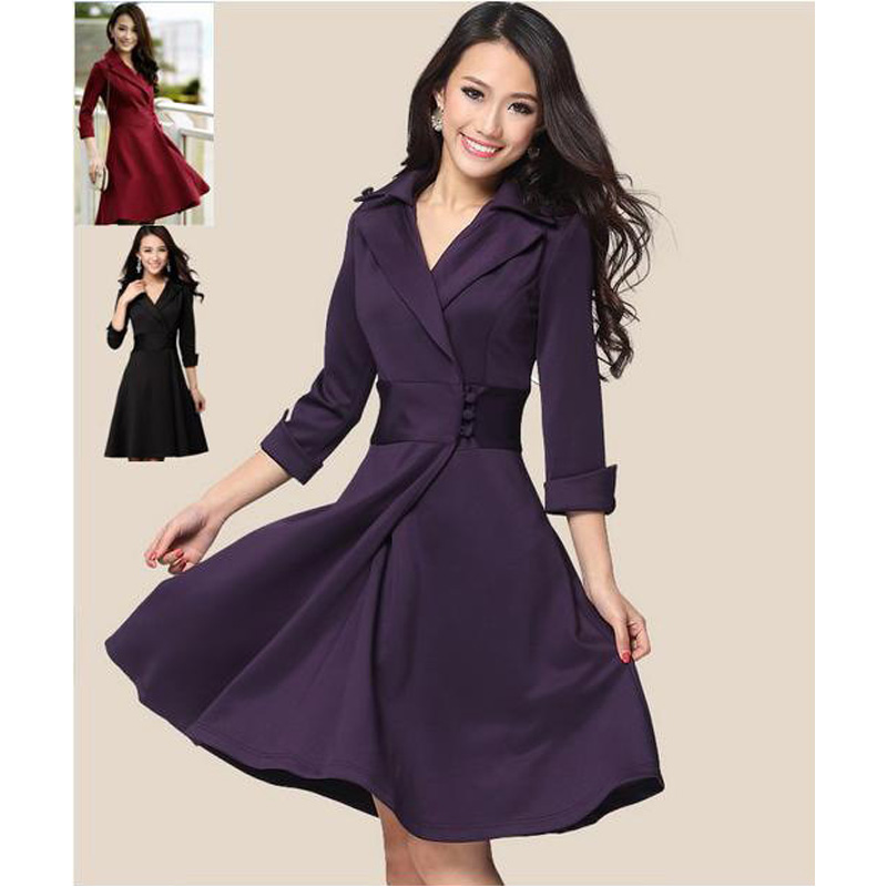 women knee length dresses 4xl plus size big size women