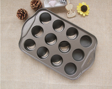 1PC 2016 New 12- cup non-stick muffin cake mold egg tart mould Mini Cheesecake Pan baking tools JC 0528(China (Mainland))