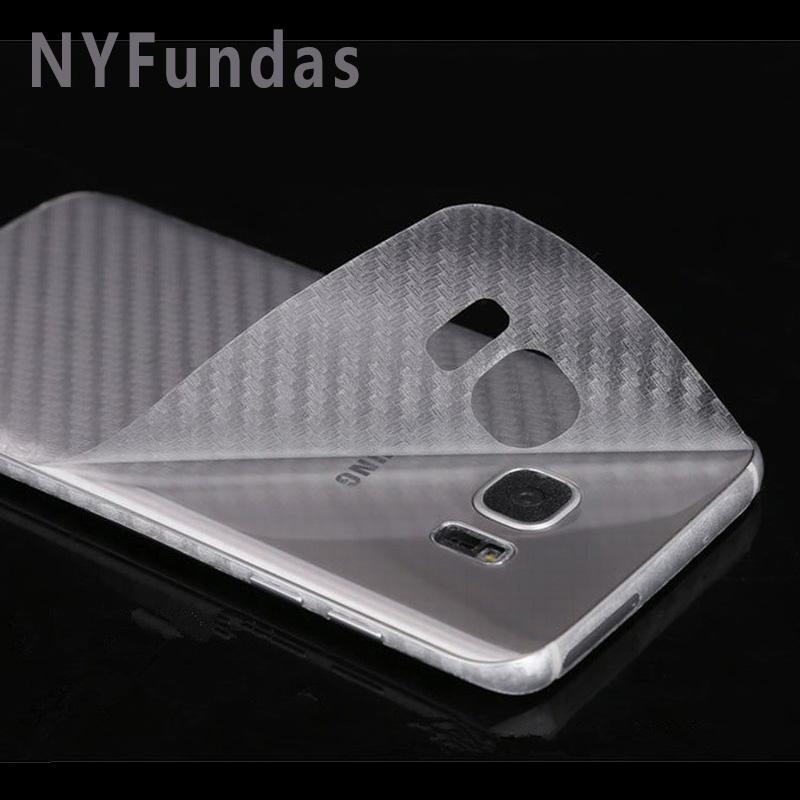NYFundas 100PCS Carbon Fiber Back Skin Phone Stickers For Samsung Galaxy S6 edge S7 S4 S5 A3 A5 A7 2016 2017 J3 J5 J7 note 3 4 5(China (Mainland))
