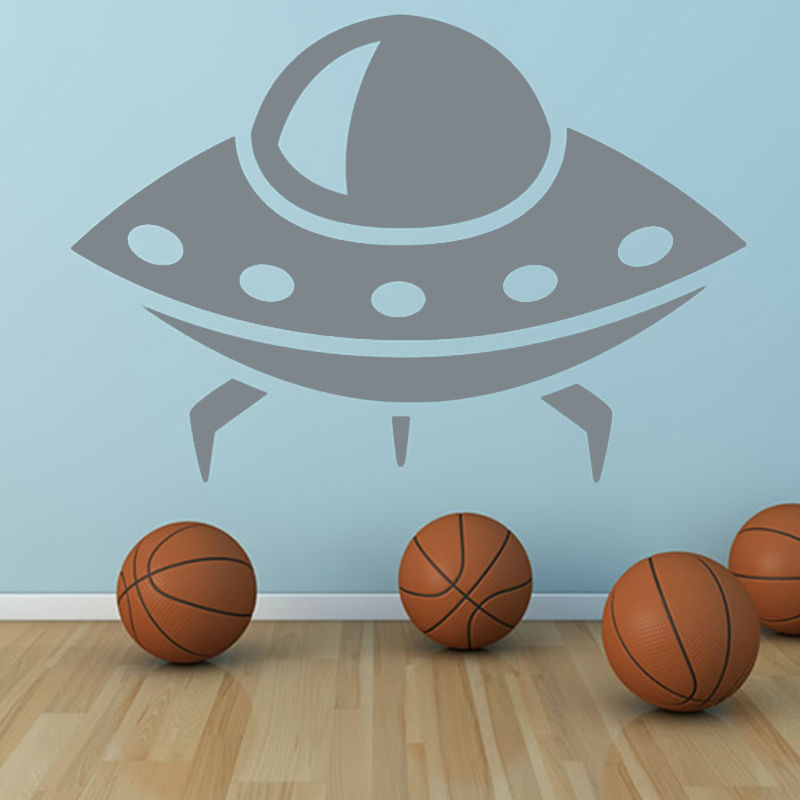 Science Fiction Alien Space Wall Stickers Home Decor Kids Bedroom Vinyl Removable UFO Wall Mural Decal(China (Mainland))