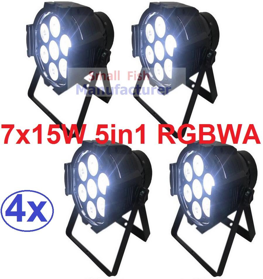 4xLot Free Shipping 7x15W RGBAW 5IN1 Mini LED Par DMX Light 7x 15-watt High Power 5-in-1 RGBWA Par LED DJ Disco DMX Stage Lights<br><br>Aliexpress