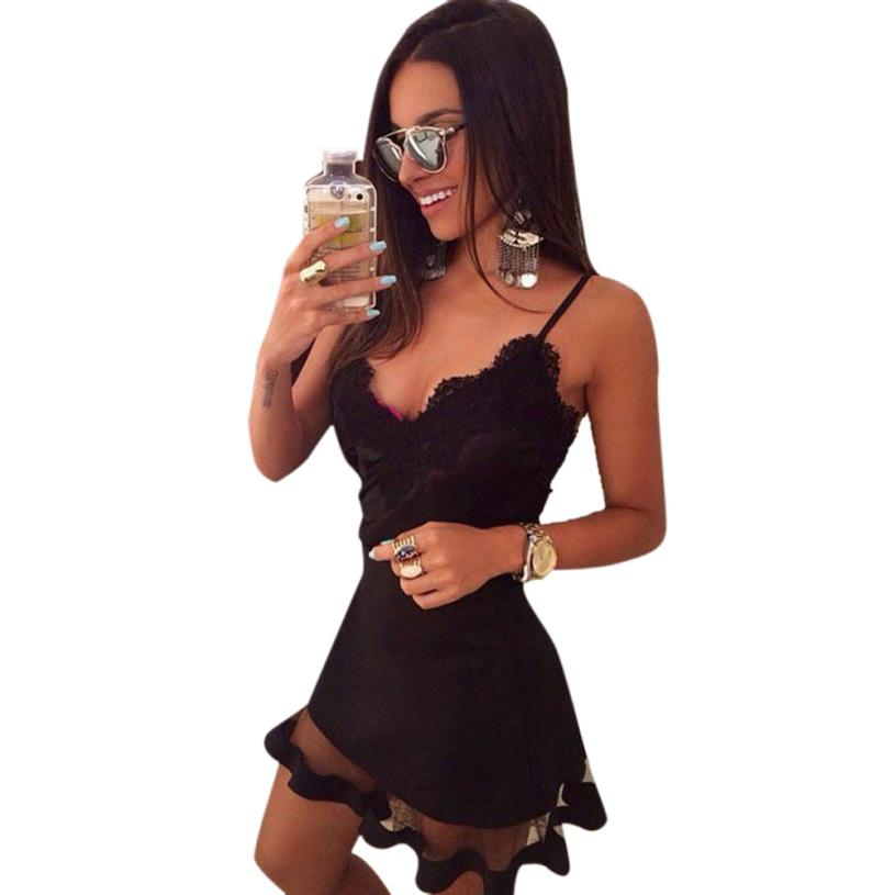 Essential 2016 New Fashion Women Fashion Sexy Backless Basic Sleeveless Slim Dress Free Shipping Apr13(China (Mainland))