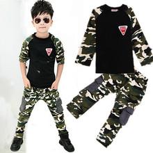 2015 New Camouflage Kids Clothing Set for Boys&Girls Spring&Autumn Cotton Camo Boys Sports Set Active Girls Clothing Sets(China (Mainland))