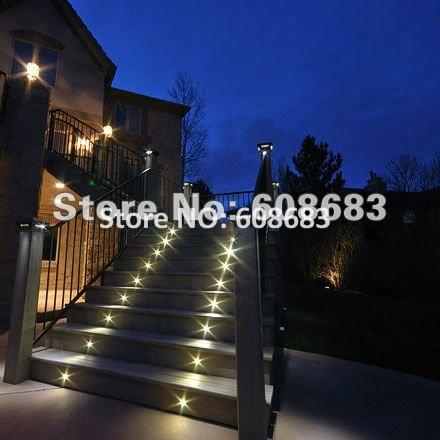 12 x 40mm Outdoor Stair Lights LED Decking Kits: 12pcs LED Lights & 1pc 8W IP67 LED Power Supply(China (Mainland))