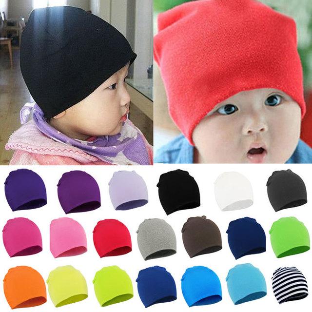 Оптовая продажа мода зима мужская новорожденного мальчика малышей младенческой хлопок мягкий милый Snapback шапки шапочки синди цвета