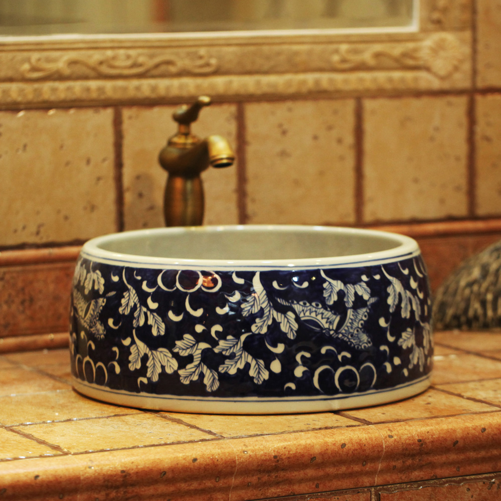 Ceramic Wash Basin Art Counter