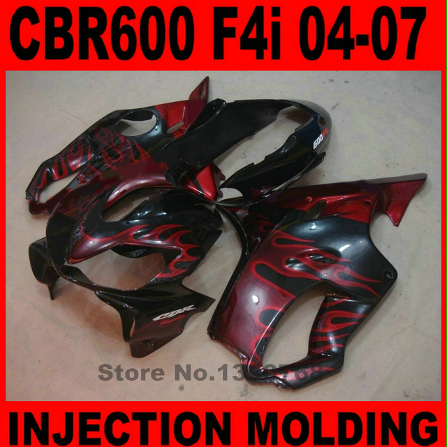 CBR600 F4i 04 2004 05 2005 Fairings Bodykit for Honda  ( Yellow orange sticker ) Fairing kit cbr 600F4i 2006 06 2007 07 l32