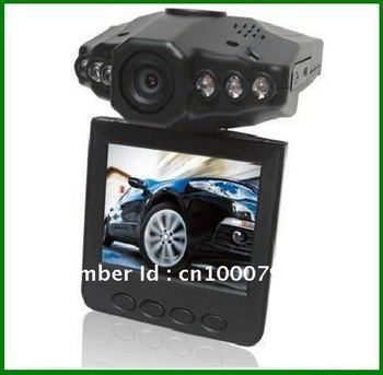 Cheapest & Hot sales 6LED night vision 2.5 inch screen Car vehical DVR camera blackbox H198, Free Shipping!