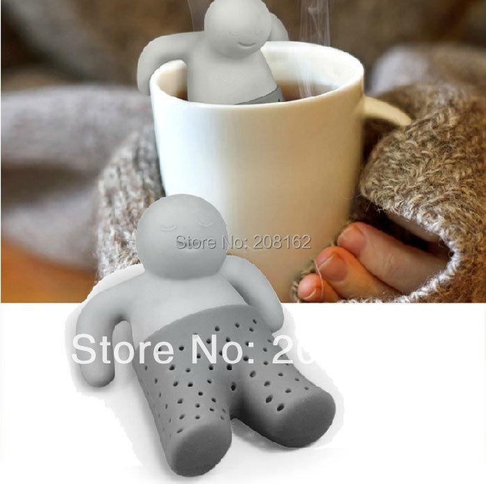 Bathing Kids Shape Tea Infuser Mr Tea strainer Filter Teabags Mesh Bag for Coffee Tea Leaves