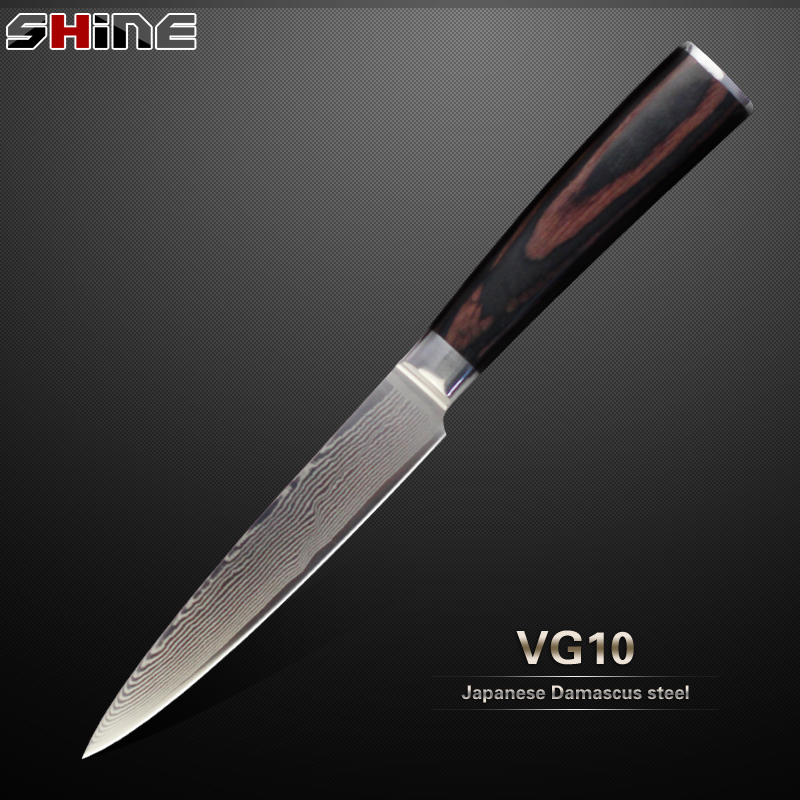 High Grade Damascus Knife 5 Inch Utility Knife Japanese