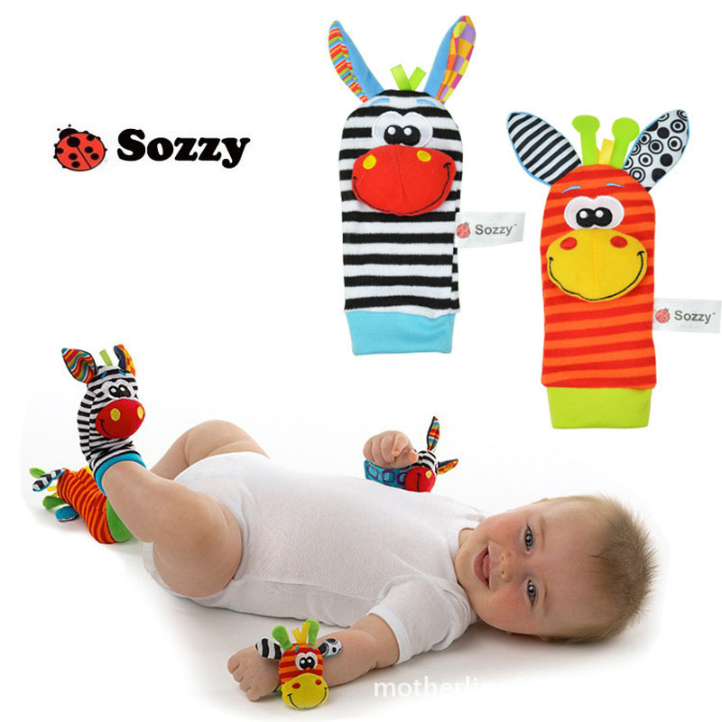 Baby Toys Baby Rattle rattle animal socks wristbands kids toys for babies hot sale Baby Educational Toys free shipping(China (Mainland))