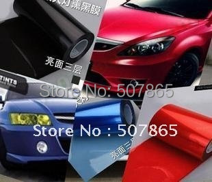 10Mx30CM Car HeadLight Taillight Decoration Moulding Protection film Foil Sticker high quality