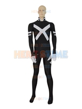 X-Force Psylocke Costume black spandex halloween cosplay party Psylocke Female Superhero costume zentai suit  free shipping