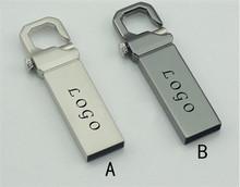 Drop Shipping Metal Key Ring Model USB 2.0 Memory Usb Flash Pendrive Real Capacity Engrave Custom Personality DIY Business LOGO