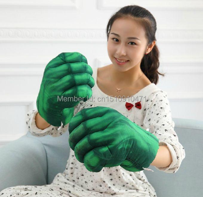 Cosplay HULK Cartoon Smash Hands Plush punching Boxing Type Warm Gloves Fist J0669 - xiaoxiami store