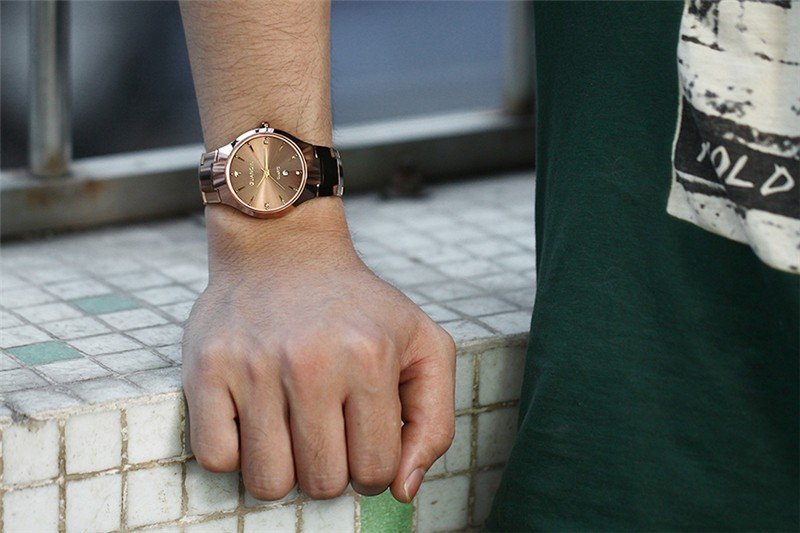 GUANQIN Марка Топ Часы Мужчины Роскошные Вольфрамовой Стали мужские Часы Аналоговый Дисплей Кварцевые Часы Человек Наручные Часы Relogio Masculino