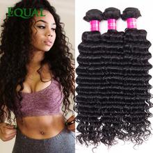 Deep Wave Brazilian Hair Queen Hair Products Brazillian Deep Wave 4 Bundles 7A Brazilian Virgin Hair Deep Curly Weave Human Hair(China (Mainland))