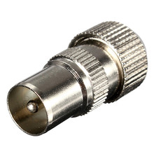 Industrial Tools Male End to Female TV Aerial Connector Adapter - RF Coax Cable Plug Socket Freeview Coaxial Metal(China (Mainland))