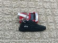 Warna Baru Mini Silikon Boot 700 Sepatu Gantungan Kunci Sneaker 700 Gelombang Pelari Gantungan Kunci Tas Wanita Pesona Pria Anak Kunci cincin Hadiah(China)