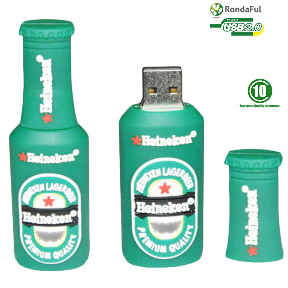 100 real fashion cool beer bottle 4gb 8gb 32gb 64gb memory stick pendrive pen drive usb