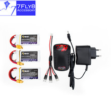 7.4V 1500mAh Lipo battery 30C max 35C Xpower 3pcs and charger with cable XT60 / T plug for RC Helicopter Quadcopter drone part