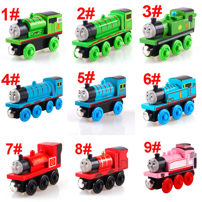Child Kids Funny Baby Train Engine Wooden 2 3 4 Pairs Of Wheels Thomas and Friends Toys US AS #27645(China (Mainland))