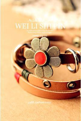 New Sale 2015 Winding Cortex Summer Style Machines For Weaving Elastic Bands Sunflower Leather Bracelets Knot Bracelet(China (Mainland))
