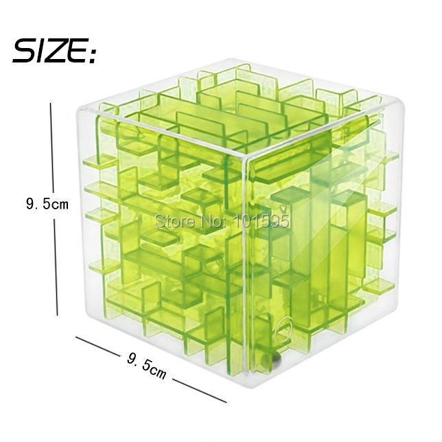 New hot! 3Color Creative Magical Cube Magic 3D Puzzle Game Children Educational Toy Gift Coin Saving Steel-Ball Game(China (Mainland))