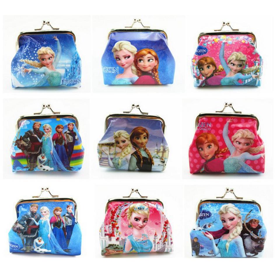 Cartoon Coin Purse Elsa Anna Princess Girls Key Case Wallet Children Snow Queen Headset Bag Coin Bag(China (Mainland))