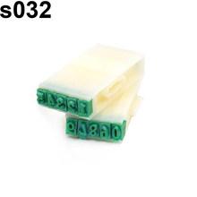 2019 venda quente! Plástico inglês alfabeto letras número selos conjunto ofício marcação diy ferramenta(China)