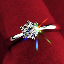 NEW Women Clear Zircon Inlaid Wedding Bridal Engagement Party Jewelry Ring Size 6-9 4XC7(China (Mainland))