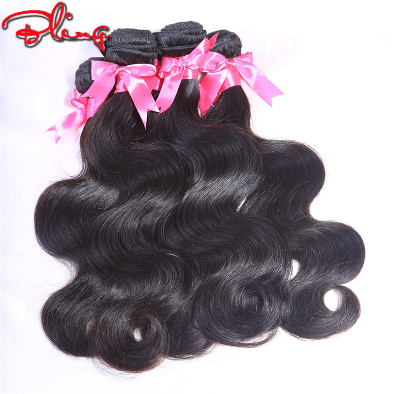 Malaysian Body Wave Human Hair Extensions Unprocessed Virgin Malaysian Hair Weave Natural Black 3pcs Malaysian Hair Extension
