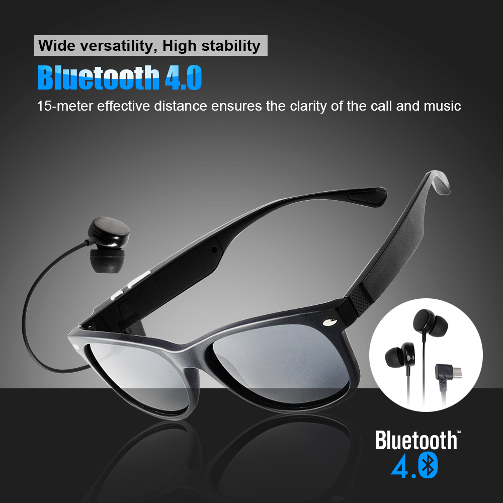 K3-P Lightweight Wireless Bluetooth Sunglasses with Earphone Polarized Glasses f